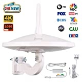 ANTOP UFO 720°Dual-Omni-Directional Outdoor HDTV Antenna Exclusive Smartpass Amplifier &4G LTE Filter,Enhanced VHF/UHF Reception,Fit Outdoor/RV/Attic Use(33ft Coaxial Cable,4K UHD Ready) (Color: Dual Omi UFO Antenna)