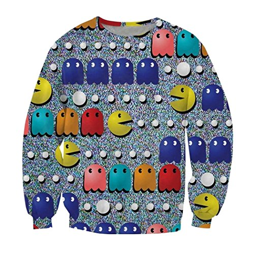 Parakeet Pac-Man Characters Sweatshirt for Women - S to XL