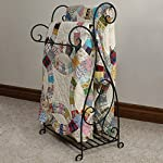 J&J Wire Scrolled 2-Piece Quilt Rack