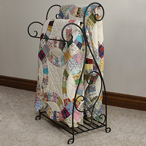 J&J Wire Scrolled 2-Piece Quilt Rack (Iron Quilt Stand compare prices)