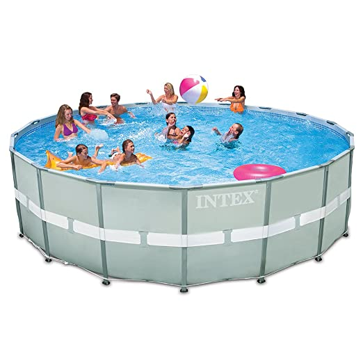 Intex 18-Foot by 52-Inch Ultra Frame Pool Set with Sand Filter Pump