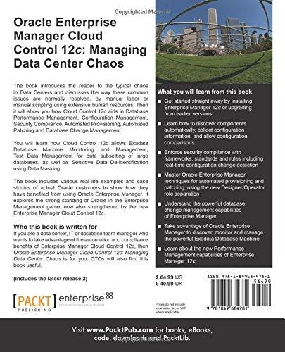 Oracle Enterprise Manager Cloud Control 12c: Managing Data Center Chaos