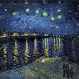 Printhook Vincent Van Gogh Starry Night Over The Rhne: Oil On Canvas- A3 Size Poster Art