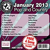 All Star Karaoke January 2013 Pop and Country Hits B (ASK-1301B)