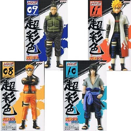 NARUTO - Naruto - Shippuden High Spec Color Figure 3 Naruto, Shikamaru, Sasuke Minato all four sets (japan import)