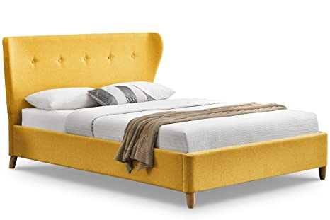 Kensington gelb Stoff geflugelten King Bett