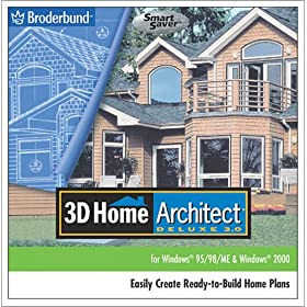 3d Home Architect Deluxe 3 Pc Cd Plan Design Build House Interior Exterior Tools Ebay