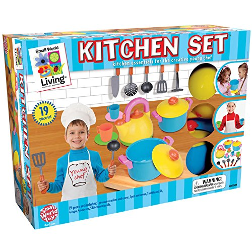 Small World Toys Living - Young Chef's Kitchen 19 Pc. Playset
