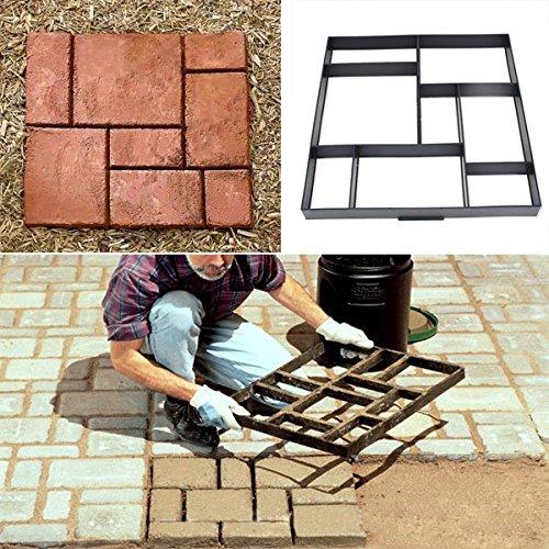 bluelover-51cm-garden-diy-plastic-path-maker-model-road-paving-cement-mould-brick-stone-road