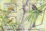 Gran Bretaña-Jersey Bloque 83 (completa.edición.) 2010 Aves del bosque (sellos para los coleccionistas)