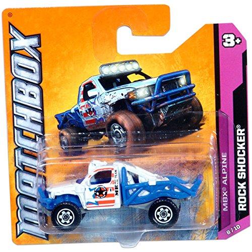 2012 Matchbox MBX Rock Shocker (Red, White & Blue) #58/100, MBX Mountain #8/10 - 1