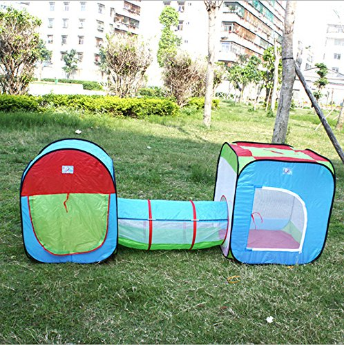 Xidaje Wonderful Kids Cubby Tent Tunnel Adventure Playground Set In Any Place front-158004