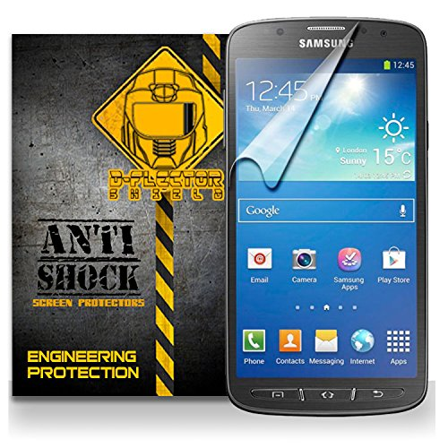 D-Flectorshield Samsung Galaxy S4 Active Anti-Shock/Military Grade/ Tpu /Premium Screen Protector / Self Healing / Oleophobic Material / Ez Install / Ultra High Definition / Scratch Proof / Bubble Free Install / Precise Laser Cuts front-427801