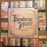 Theodosia Square 12x12 Scrapbooking Paper Pad, 180 Sheets, Vintage,Ephemera, French, Newsprint (Tamaño: 12-x-12-Inch)
