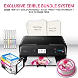 Icinginks Edible Printer Art Package - Comes with Edible Printer, Edible Cartridges, 20 Wafer Paper, 5 Frosting Sheets, Set of Standard Edible Markers - Best Cake Image Printer, Canon Edible Printer (Color: Black)