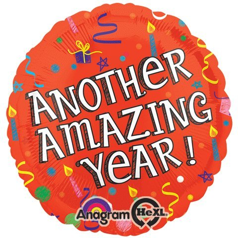 Anagram International Hx Amazing Year Birthday Balloon, Multicolor