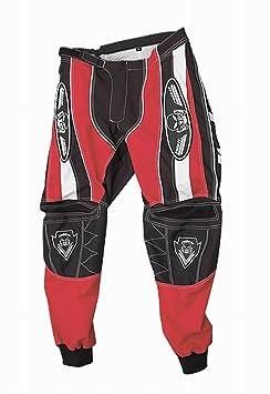 Roleff Racewear 8615 Pantalon Motocross, Noir/Rouge, XL