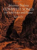 img - for Johannes Brahms Complete Songs for Solo Voice and Piano (Dover Song Collections) book / textbook / text book
