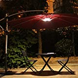 Amir Patio Umbrella Light - Wireless 24 LED Lights At 12,000 lux - 3 x AA Battery Operated, Umbrella Pole Light, for Patio Umbrellas, Outdoor Use, or Camping Tents (White)