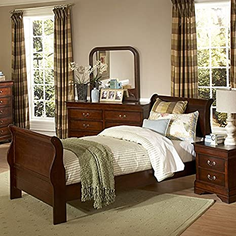 Chateau Brown Youth Sleigh Bedroom Set Full