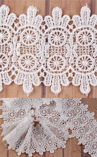 5 Yard Gorgeous Ivory Lace Trim Sewing On 2.8'' Inch I0129-1