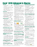 img - for Microsoft Excel 2010 Advanced & Macros Quick Reference Guide (Cheat Sheet of Instructions, Tips & Shortcuts - Laminated Card) book / textbook / text book