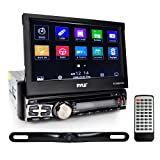 Pyle Car Stereo Receiver System & Backup Camera Kit Touch-Screen Headunit Radio CD/DVD Player | Bluetooth Wireless Streaming | Hands-Free Talking | USB/MP3/AUX/AM/FM Radio | Single DIN (PLT85BTCM)