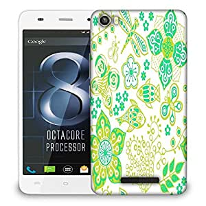 Snoogg Butterfly And Fishes Designer Protective Phone Back Case Cover For LAVA IRIS X8