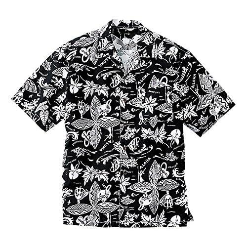 (フェイスミックス)FACEMIX アロハシャツ FB486U 16 ブラック L