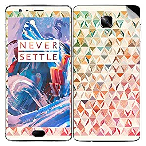 Theskinmantra Cubes Pink mobile SKIN/STICKER/DECAL for OnePlus 3/Oneplus Three/1+3