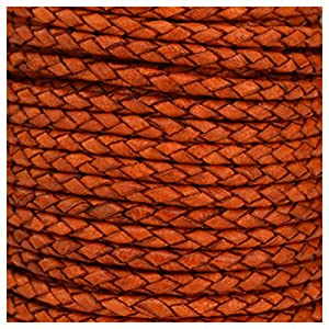 Jewellery of Lords 1 Meter Dark Natural 3mm Braided High Quality Round Cord Real Leather String Lace Thong Jewellery Making