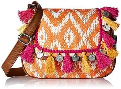 Kanvas Katha Women's Sling Bag (Brown) (KKMWV007)