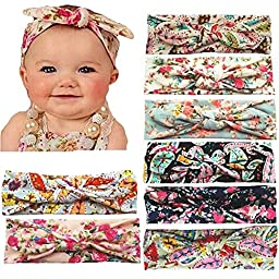 Defitck Baby Headbands Girl Newest Turban Head Hair Accessorie Wrap Knotted Hair Band 8PCS(fzt008)