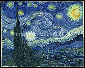 Starry Night Vincent van Gogh CANVAS PRINT of Painting