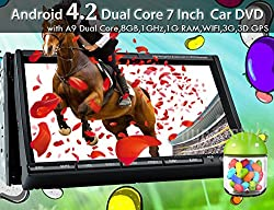 See 7 Inch Android 4.2 Capacitive Screen GPS Car DVD Navigation for universal 2 Din headunit Radio Stereo WIFI Internet 3D MAP with Rear camera Details