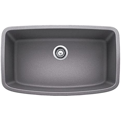 "Valea 32"" x 19"" Super Single Undermount Kitchen Sink, Finish: Metallic Gray"