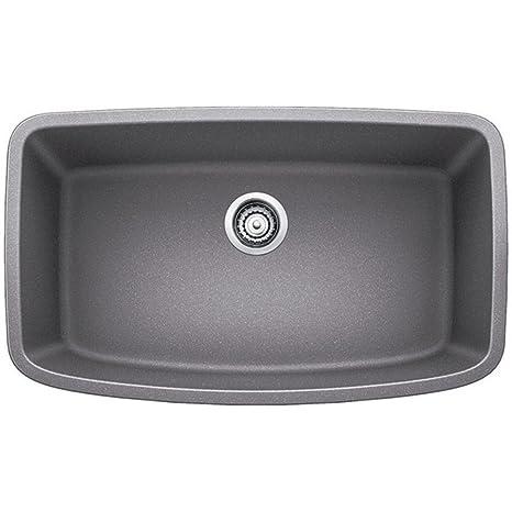 """Valea 32"""" x 19"""" Super Single Undermount Kitchen Sink, Finish: Metallic Gray"""