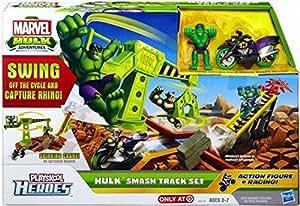 Super Hero Adventures Marvel Playskool Hulk Adventures Playset Hulk Smash Track Set