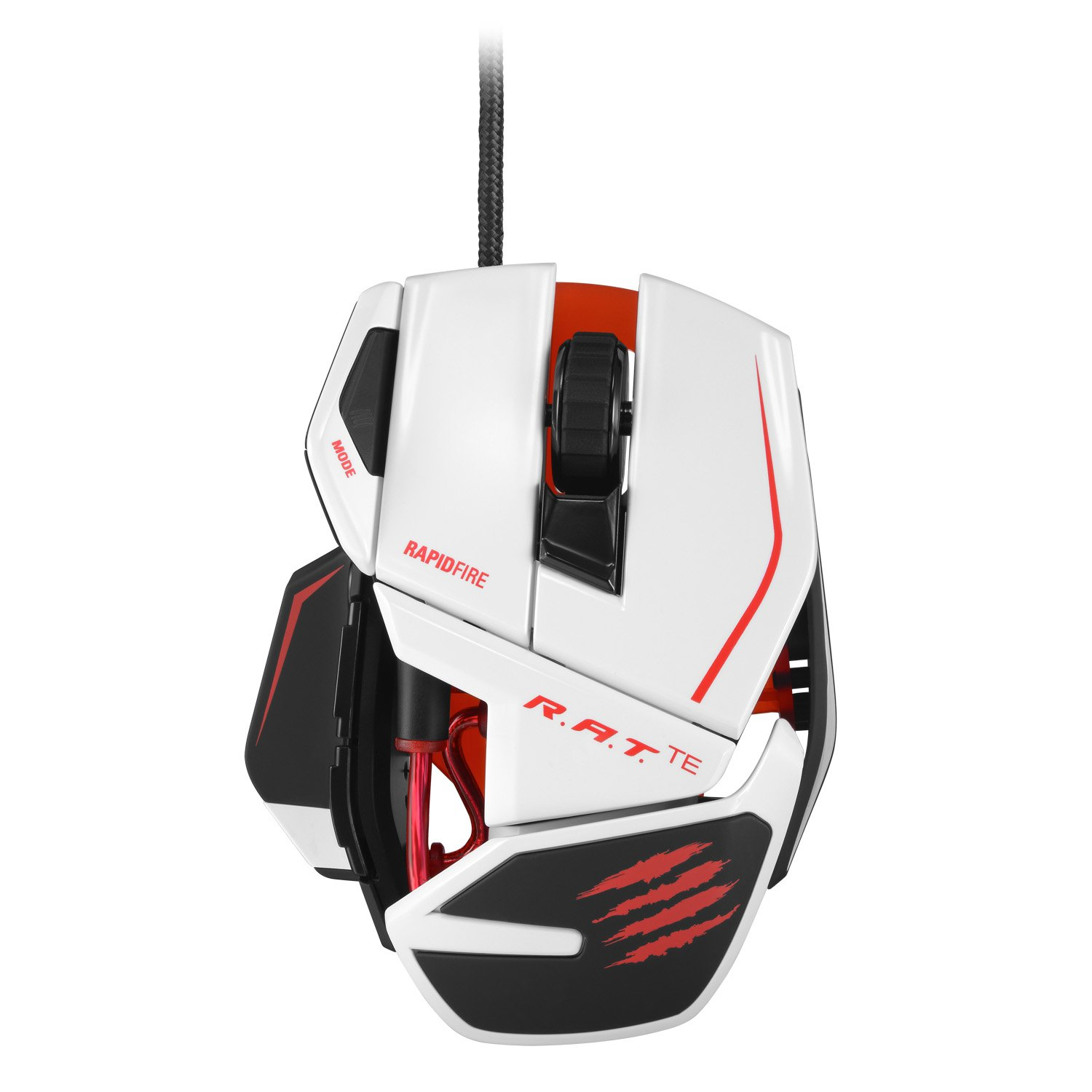 Mad Catz R.A.T.TE Tournament Edition Gaming Mouse for PC and Mac, White (MCB437040001/04/1)