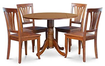 5-Pc Dinning Set in Brown Finish