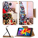 Luxlady Premium Samsung Galaxy Tab 4 7.0 Inch Flip Pu Leather Wallet Case IMAGE ID: 34216677 Collage of decorated Christmas tree in a room