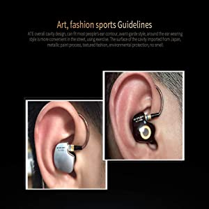 Kz ATE Copper Driver Ear Hook Hifi in Ear Earphone Sport Headphones for Running with Foam Eartips with Microphone (Color: Silver;Black)