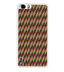 Colourful Pattern 2D Hard Polycarbonate Designer Back Case Cover for Huawei Honor 6