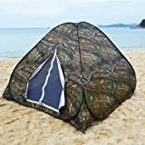 Camouflage Camping Hiking Hunting Pop up Tent Quick Setup Easy Carry