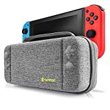 Nintendo Switch Case, Tomtoc Protective Hard Shell Travel Storage Carrying Case Cover Box with 18 Game Cartridges and Handle for Nintendo Switch Console and Accessories - New Arrival, Gray