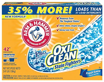 arm and hammer plus oxiclean laundry detergent