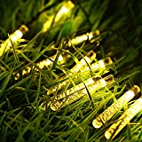 GDEALER Solar String Lights 21ft 30LED Waterproof Outdoor Ice Piton Fairy String Lights Warm White for Garden, Yard, Home, Landscape,Christmas Party