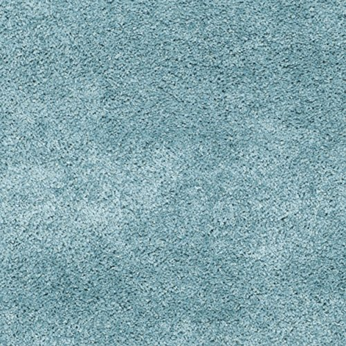 Safavieh Milan Shag Collection SG180-6060 Aqua Blue Shag