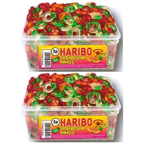 2-x-full-tubs-haribo-sweets-party-favours-treats-candy-box-wholesale-friendship-rings