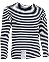 Russian Navy Telnyashka T-Shirt - Navy Blue Stripes Long Sleeve